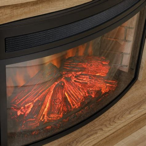 Curved Fireplace by Curved Fireplace Insert In Black 418739