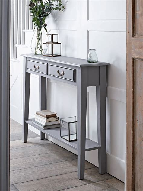 Slim Hallway Table New Grey Console Table Grey Warm Grey And Tables