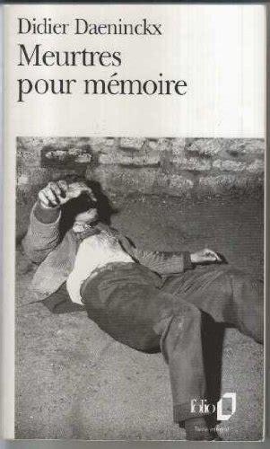 libro meurtres pour m 233 moire di didier daeninckx