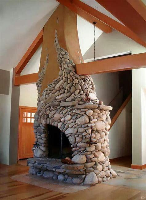 17 best images about river rock fireplace on pinterest