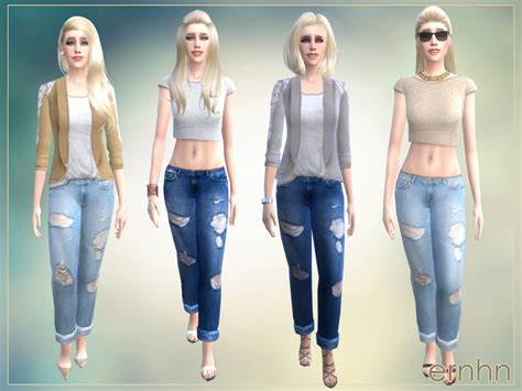 sims 4 cc boyfriend jeans ernhn s easy casual trend set