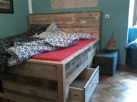 diy pallet bed with storage tutorial pallet bed tutorial built in drawers the bed 101 pallets