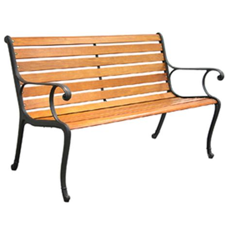 texas star bench lowes garden treasures salem texas star wood bench with cast iron arms benches