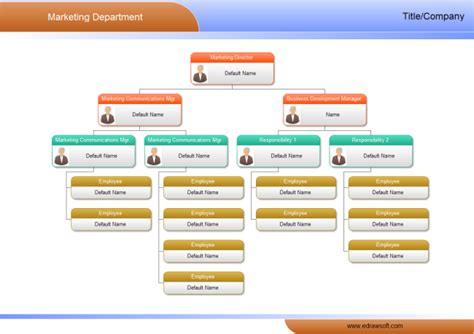 department organizational chart template market department org chart free market department org