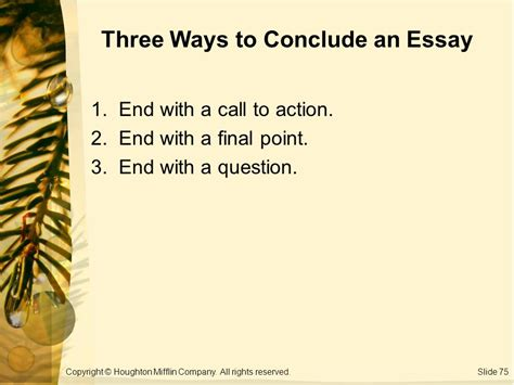 Ways To End A Essay by What Are Three Ways To End An Essay Evergreen Teaching Center Powerpoint Slides Ppt