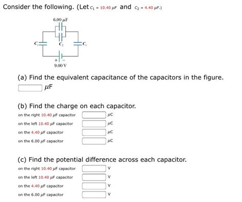 determine the charge on each capacitor consider the following let c 1 10 40 mu f and chegg