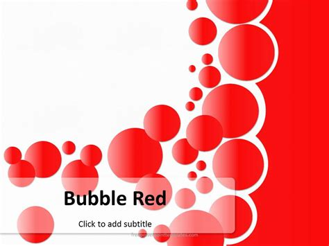 ppt templates free download red free bubble red powerpoint template