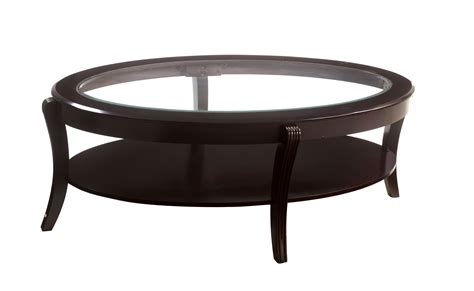 Oval Glass Top Coffee Table Furniture Of America Espresso Baton Oval Glass Top Coffee Table Coffee Table Inspirations