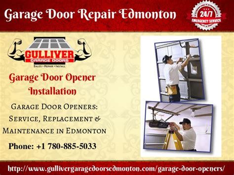 Overhead Door Repair Edmonton Garage Door Repair Opener Installation Tips Gulliver Garage Doors