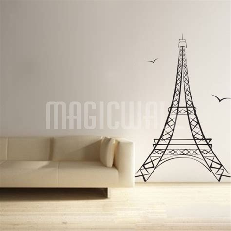 wall stickers eiffel tower eiffel tower wall decals aliexpress buy luminous eiffel tower wall stickers glow in