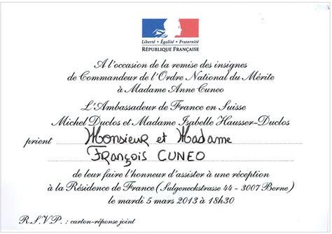 Lettre De Recommandation Ordre National Du Mérite Modele Invitation Ordre National Du Merite Document