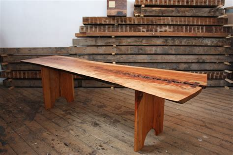 custom made benches hand made cherry slab bench by pernt custommade com