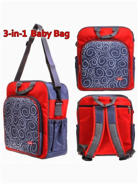 Tas Bayi 3 In 1 By Luckysmart by Kiddy Tas Bayi 3 In 1 Bag Bungaasi