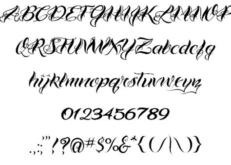 tattoo fonts preview rearthmittjusof fonts cursive alphabet