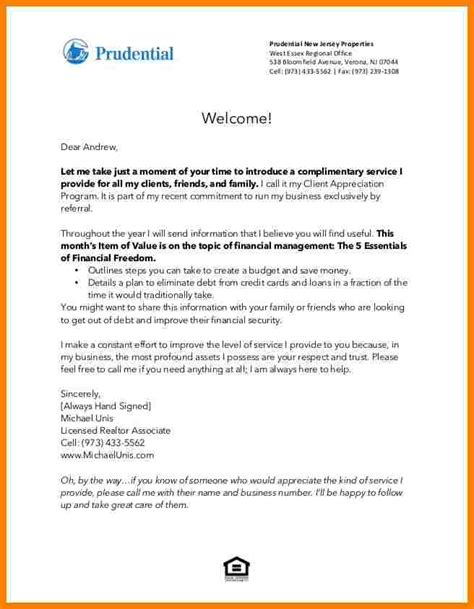 appreciation letter to real estate 8 business introduction letter to new clients