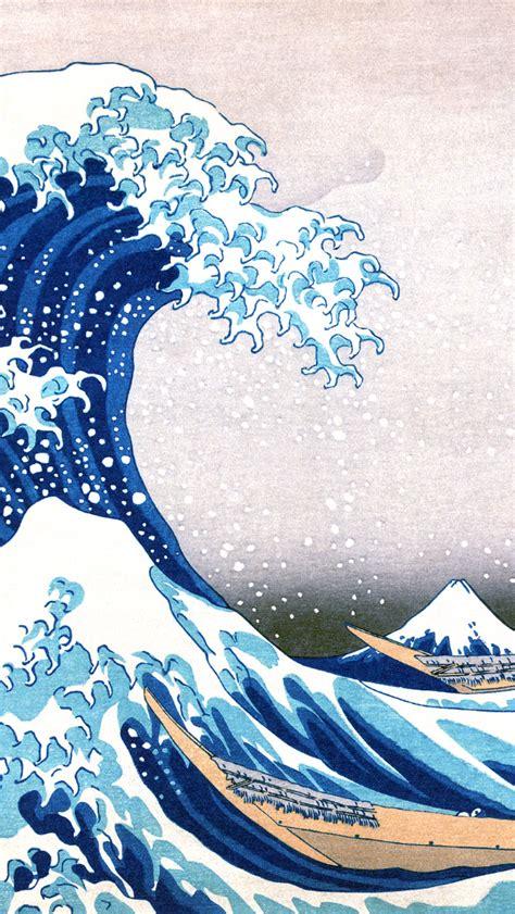 great wave  kanagawa painting iphone  wallpaper hd
