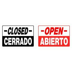 Open House Signs Home Depot by The Hillman 8 In X 12 In Plastic Open Closed Sign