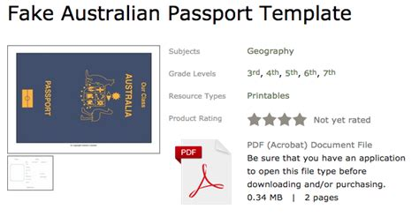fake australian passport template leasha s lessons