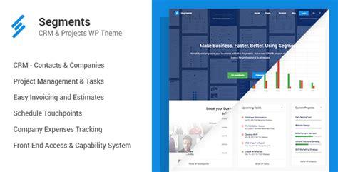 themeforest crm segments crm project management wordpress theme