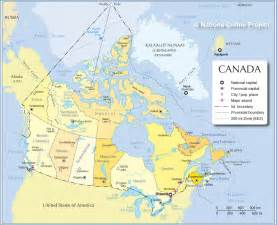 canada in the map map of canada provinces and capitals