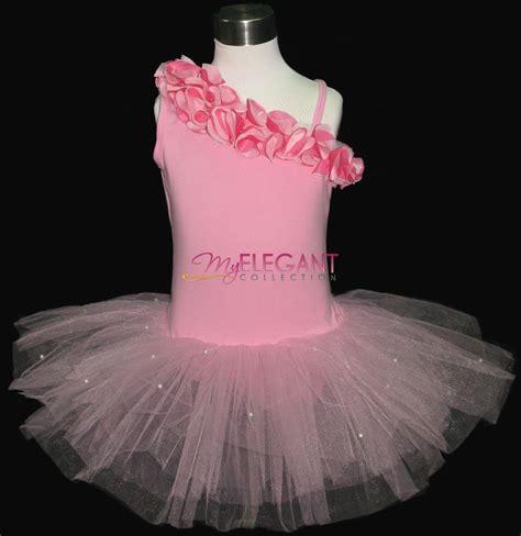 Ballet Dress pink flower costume dress ballet leotard tutu