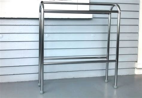 rack quilt stand towel stand vintage chrome by
