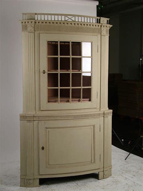 Antique Corner Cupboard For Sale - swedish antique painted corner cupboard 1780 for sale