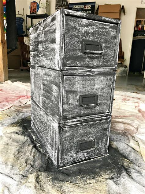 chalkboard paint seasoning modern rustic file cabinet makeover vintage desk sweet
