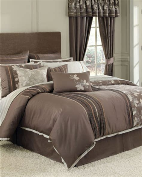Croscill Townhouse Comforter by Cascade Chocolate Bedding Ensemble By Croscill Townhouse Linens