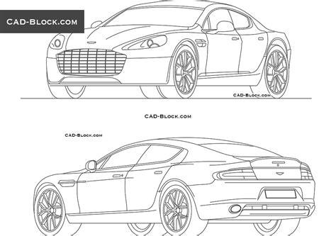 car templates for autocad aston martin rapide free cad file download autocad blocks