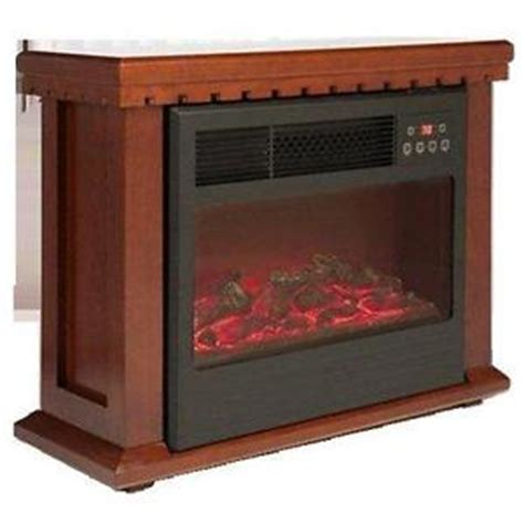 amish style quartz infrared fireplace heater 1000