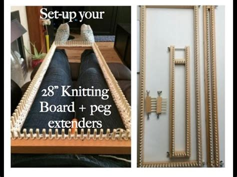 how to use a knitting board how to configure 28 quot knitting board peg extenders loom
