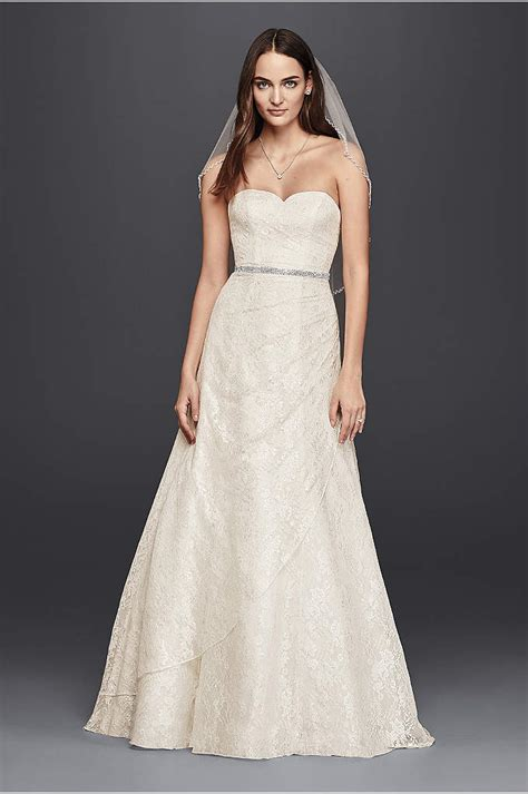 A Line Wedding Gowns by A Line Lace Wedding Dress With Side Split Detail Davids