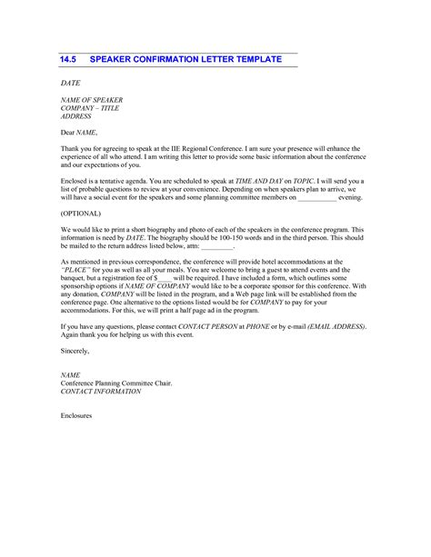 Thank You Letter To Confirmation Best Photos Of Christian Speaker Confirmation Letter Sle Sle Speaker Confirmation Letter