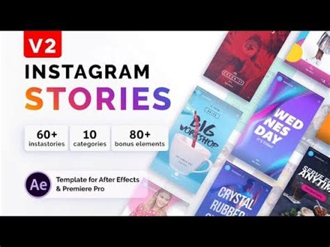 Download Videohive Instagram Stories 21850927 Free After Effects Template Youtube Instagram Story Template After Effects