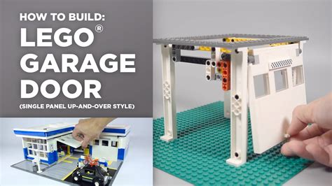 tutorial lego single car garage lego auto garage door tutorial how to youtube