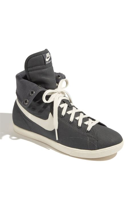 nike raquette mid high top sneaker in gray grey sail lyst