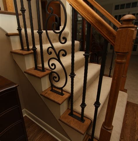 iron stair rails and banisters hand forged iron stair railing doors pinterest