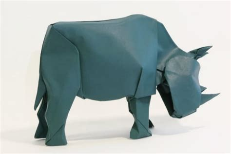 How To Make Origami Rhino -