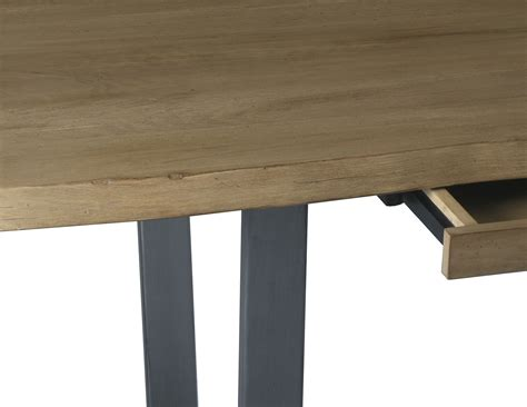 Wood And Wrought Iron Desk by Astoria Live Edge Hardwood And Wrought Iron Desk