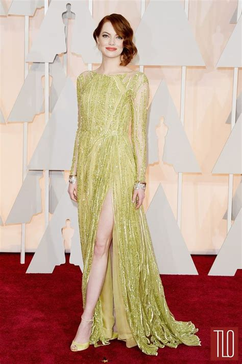 emma stone oscar emma stone in elie saab at the oscars tom lorenzo
