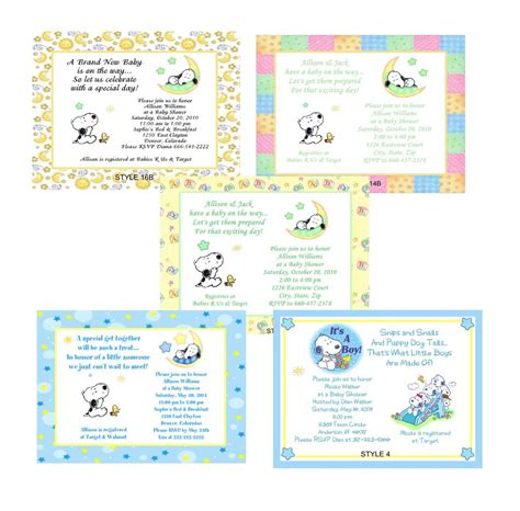 Ebay Baby Shower by Baby Snoopy Baby Shower Invitations Ebay