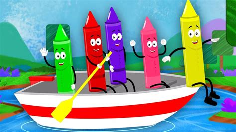 row row row your boat video song free download row row row your boat crayons nursery rhymes kids