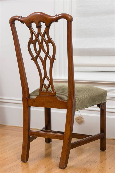 Reproduction Mahogany Dining Chairs Reproduction 18th Century Chippendale Mahogany Chairs Set Of Eight At 1stdibs