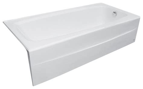 66 inch bathtub spectra 66 inch cast iron soaking tub with right drain in