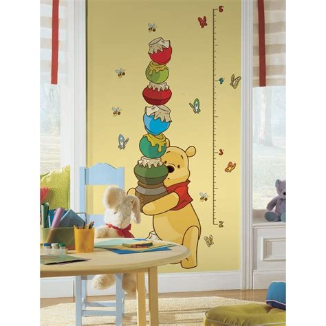 winnie the pooh growth chart wall sticker decals nursery