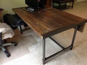 holzplatte schreibtisch easy to build barn wood desk desk week