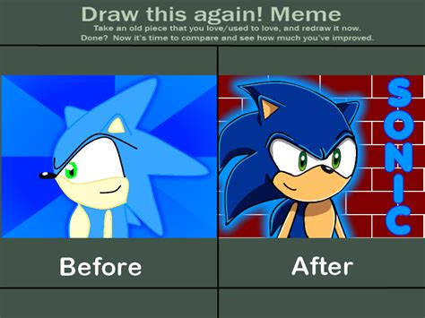 sonic the hedgehog meme draw this again meme sonic the hedgehog by bagogo on