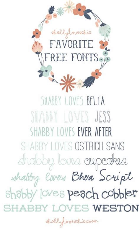 shabby loves free fonts b l o g pinterest creative shabby chic and ever after