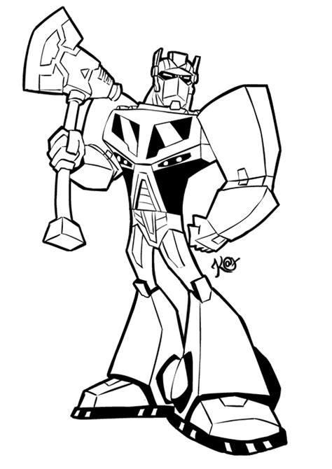 transformers animated coloring page optimus prime colouring page by katcardy on deviantart